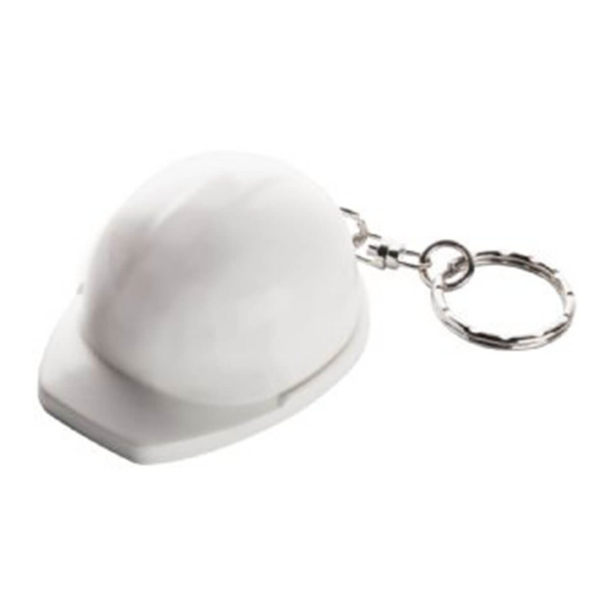 Hard Hat Keyring-White.