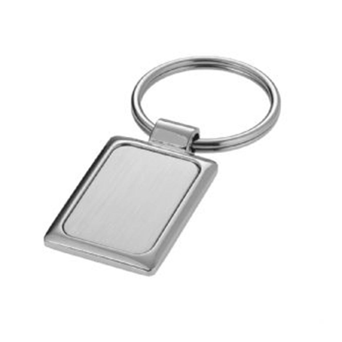 Rectangle Keyring-Silver