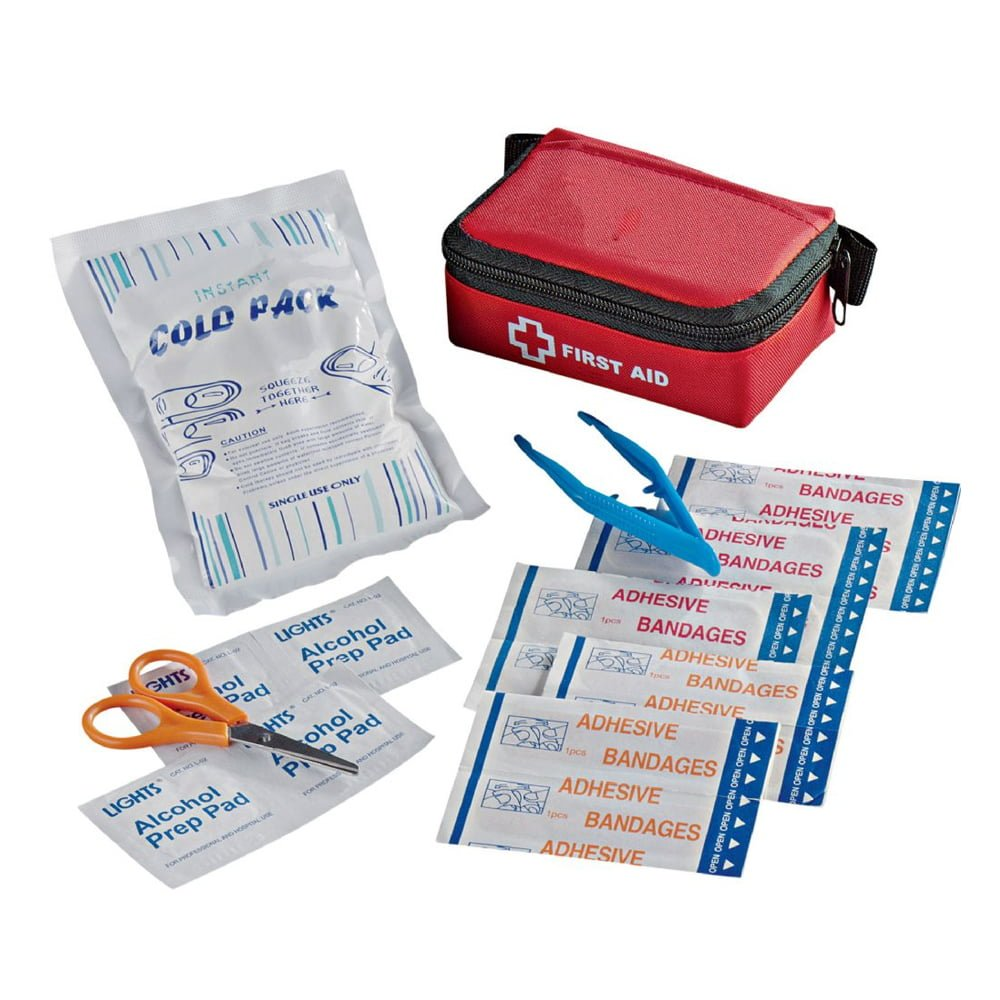 Stay Safe Compact First Aid Kit-Red