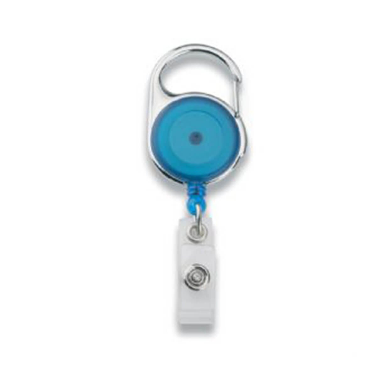 Retractable Badge Holder-Blue.