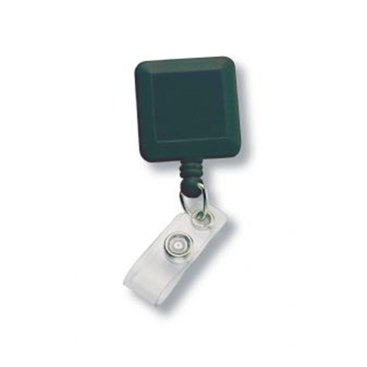Square Retractable Badge Holder-Black.