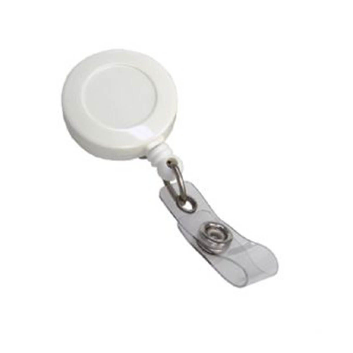 Retractable Badge Holder-White.