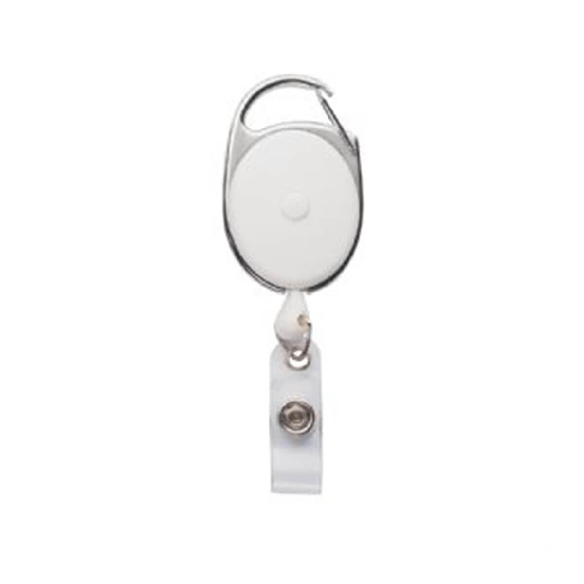 Retractable Badge Holder-White
