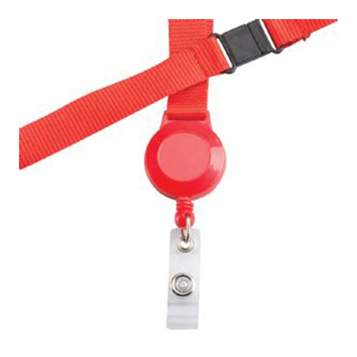 Retractable Badge Holder-Red