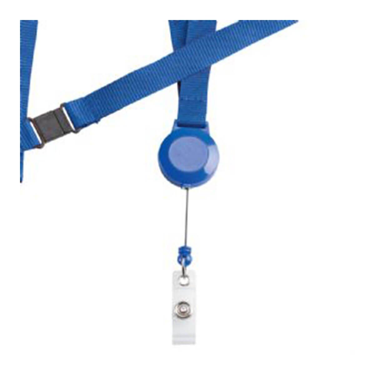 Retractable Badge Holder-Blue