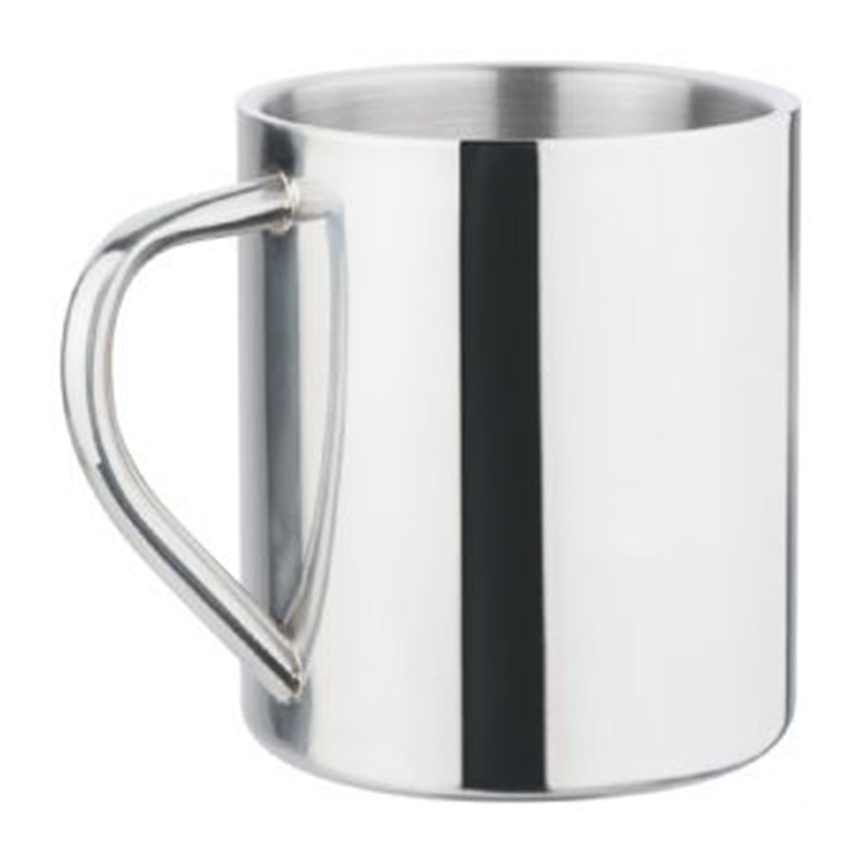 Polished Stainless Steel Mug-Silver.