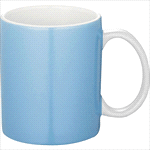 Bounty Ceramic Mug-Pale Blue with White Handle