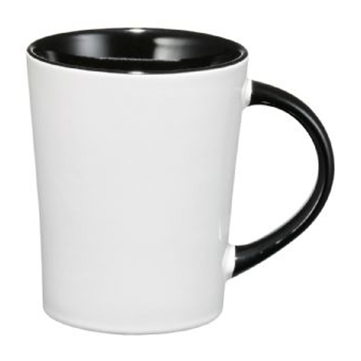 Aura Ceramic Mug-Black with white.