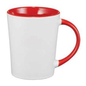 Aura Ceramic Mug - Red with white