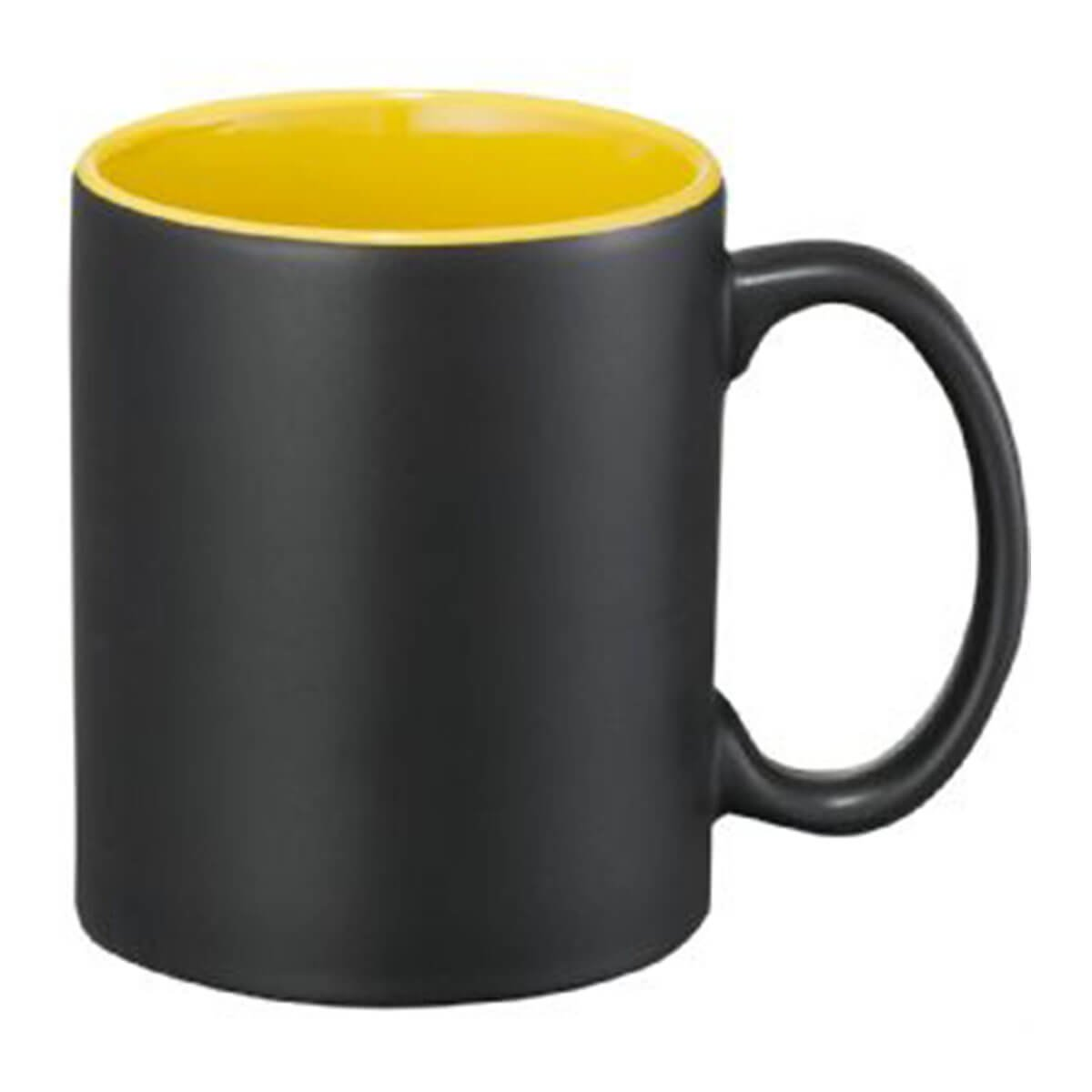 Maya Ceramic Mug-Black and yellow