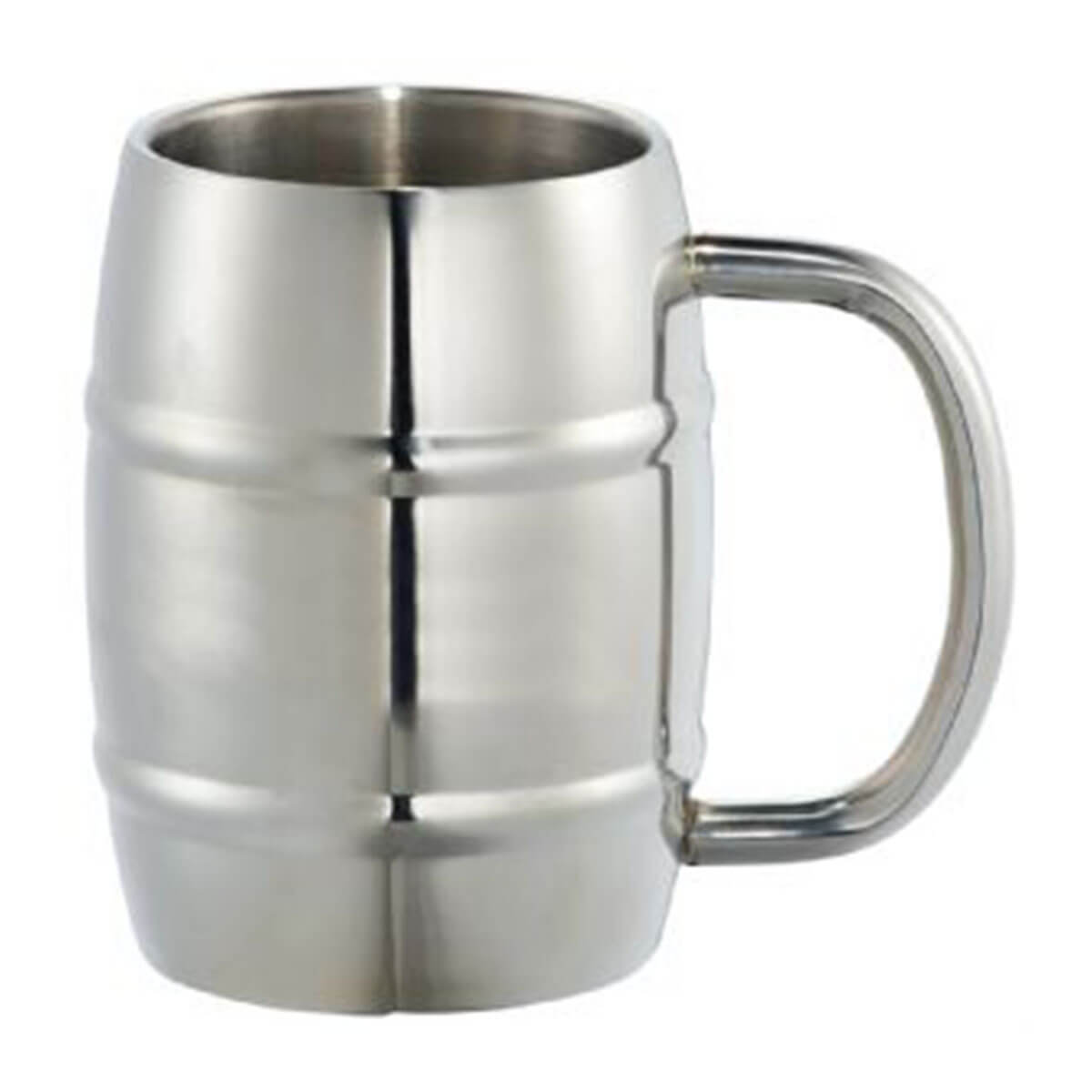 Growl Stainless Barrel Mug-Silver