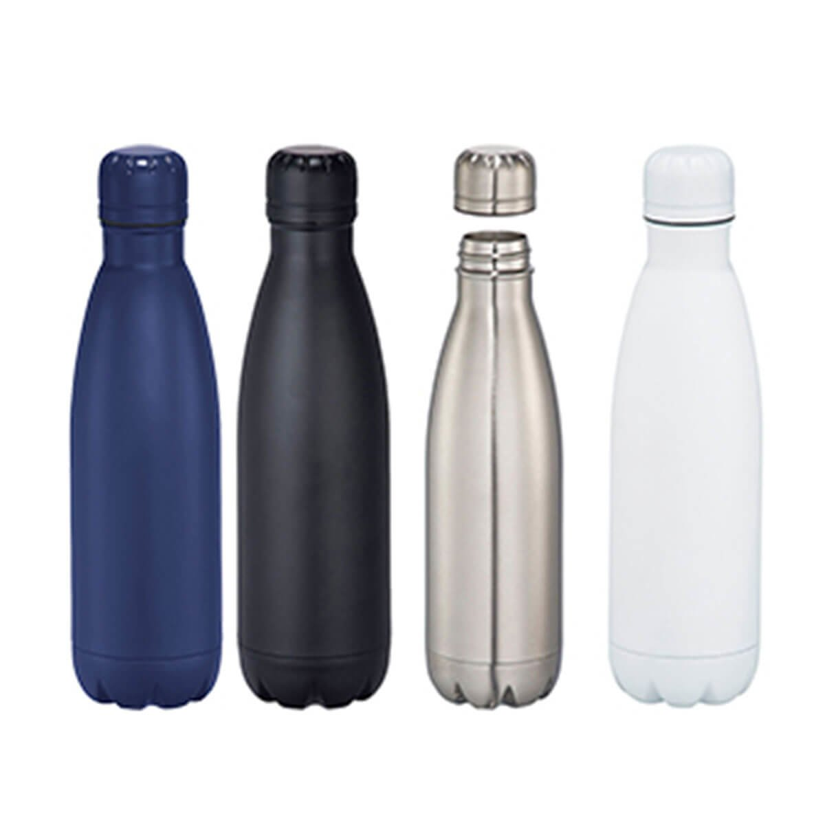 Copper Vacuum Insulated Bottle-Navy Blue