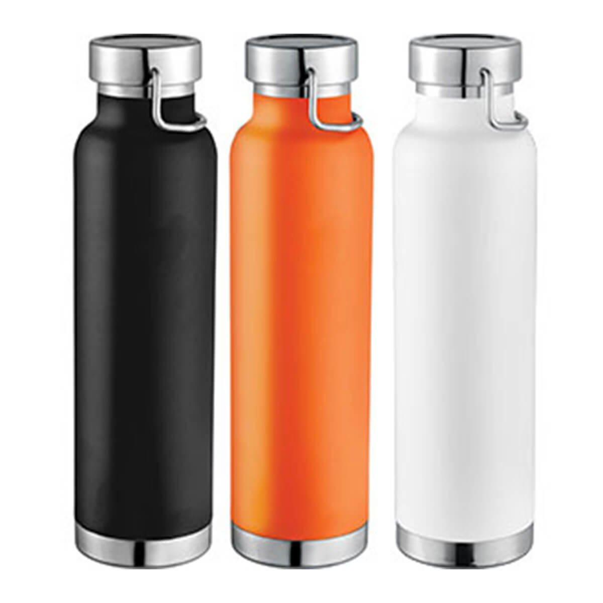 Thor Copper Vacuum Insulated Bottle-Black