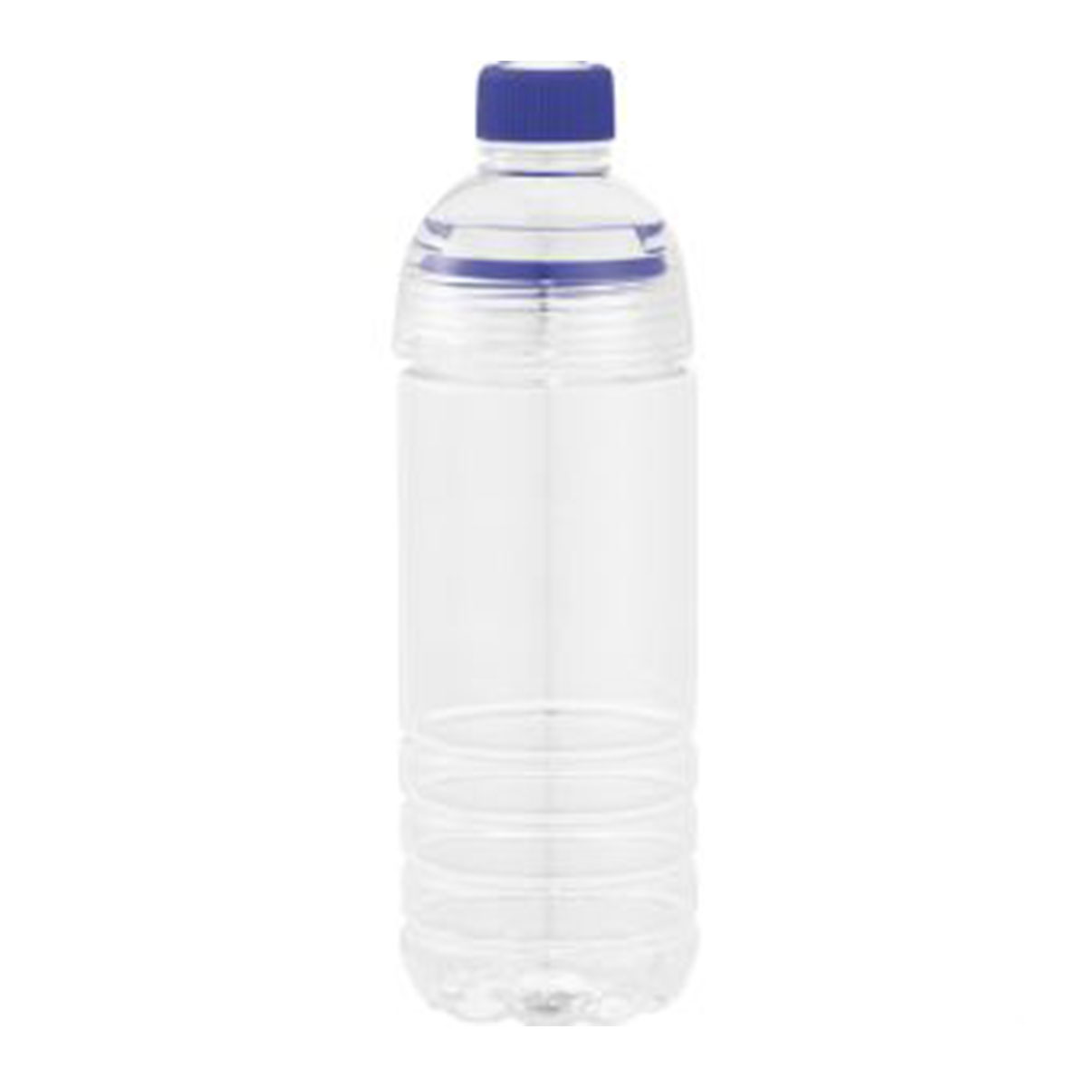 The Water Bottle-Clear & Blue.