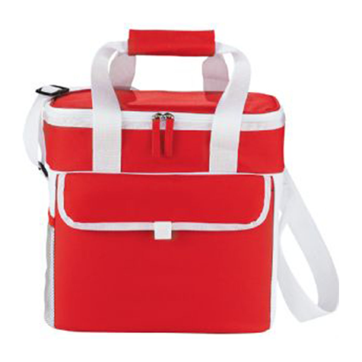 Game Day Sports Cooler-Red and White