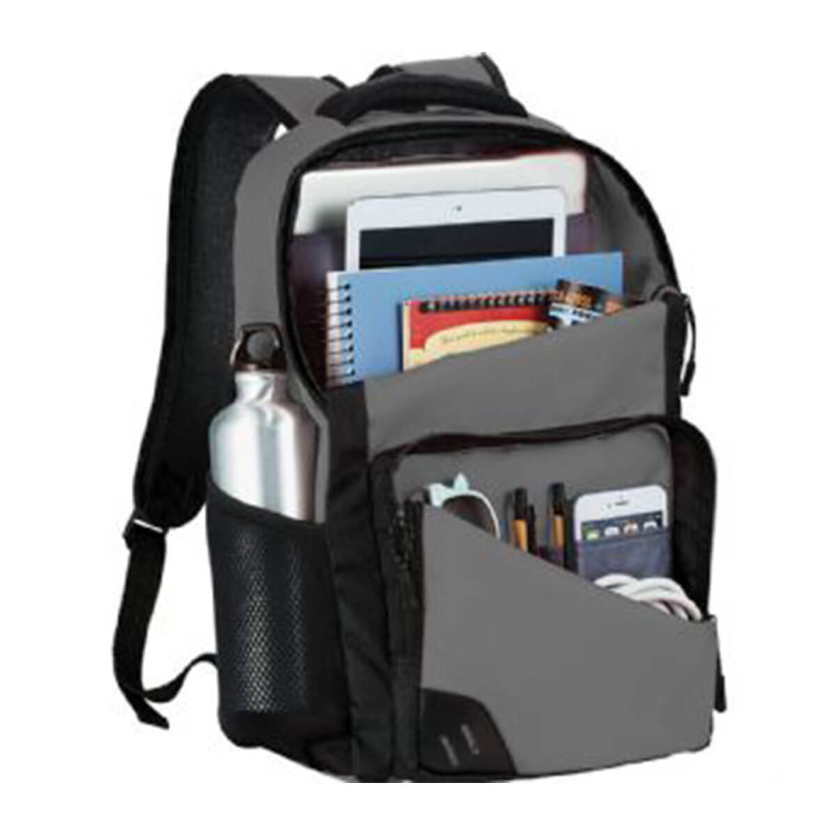Rush 15 inch Computer Backpack-Grey