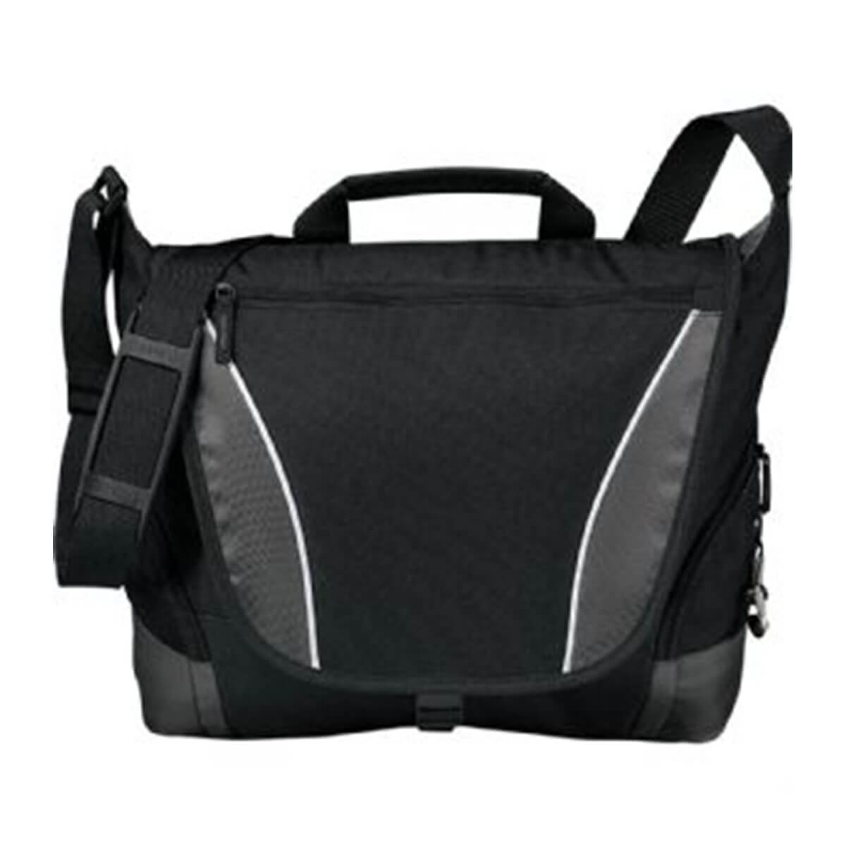 Slant Messenger Bag-Black