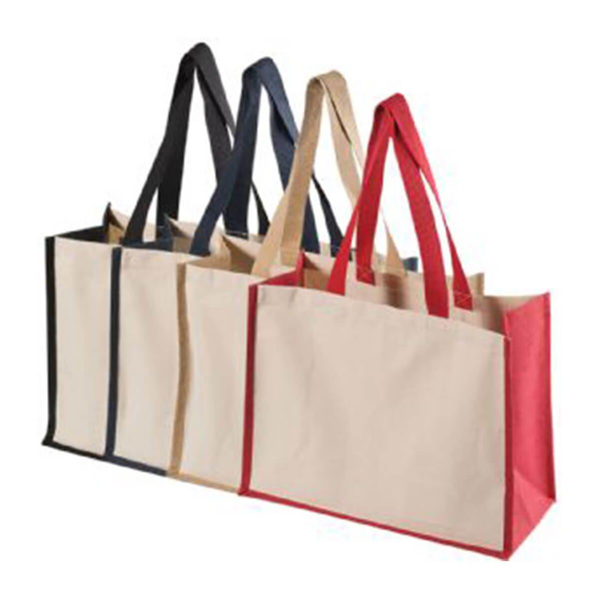 Functional Tote Bag-Black/Natural
