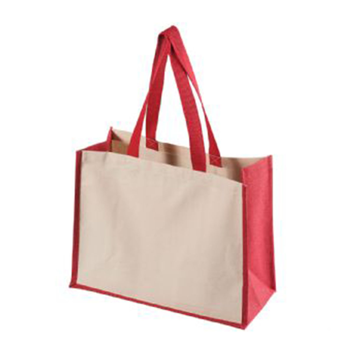 Functional Tote Bag-Red/Natural