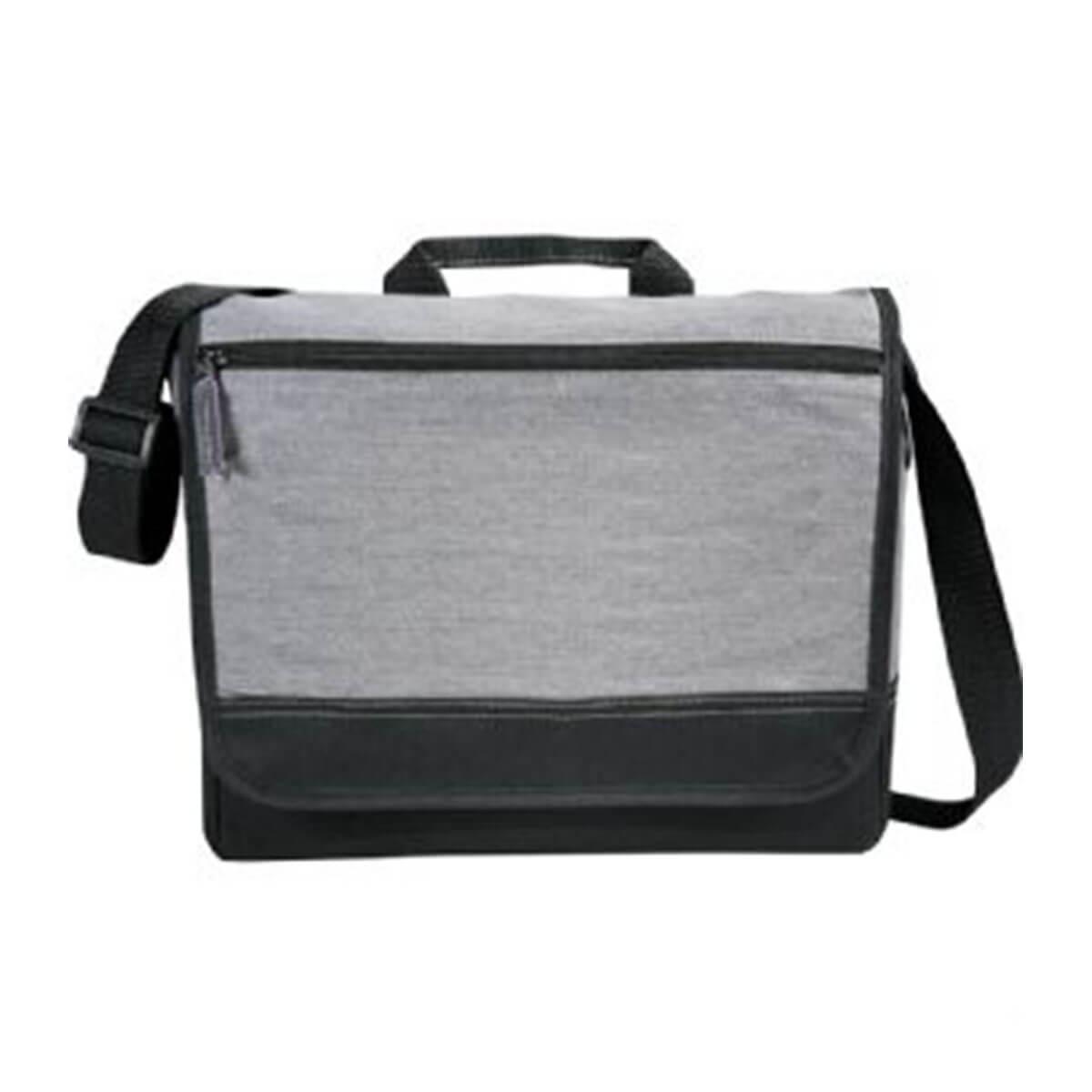 Faded Tablet Messenger Bag-Grey
