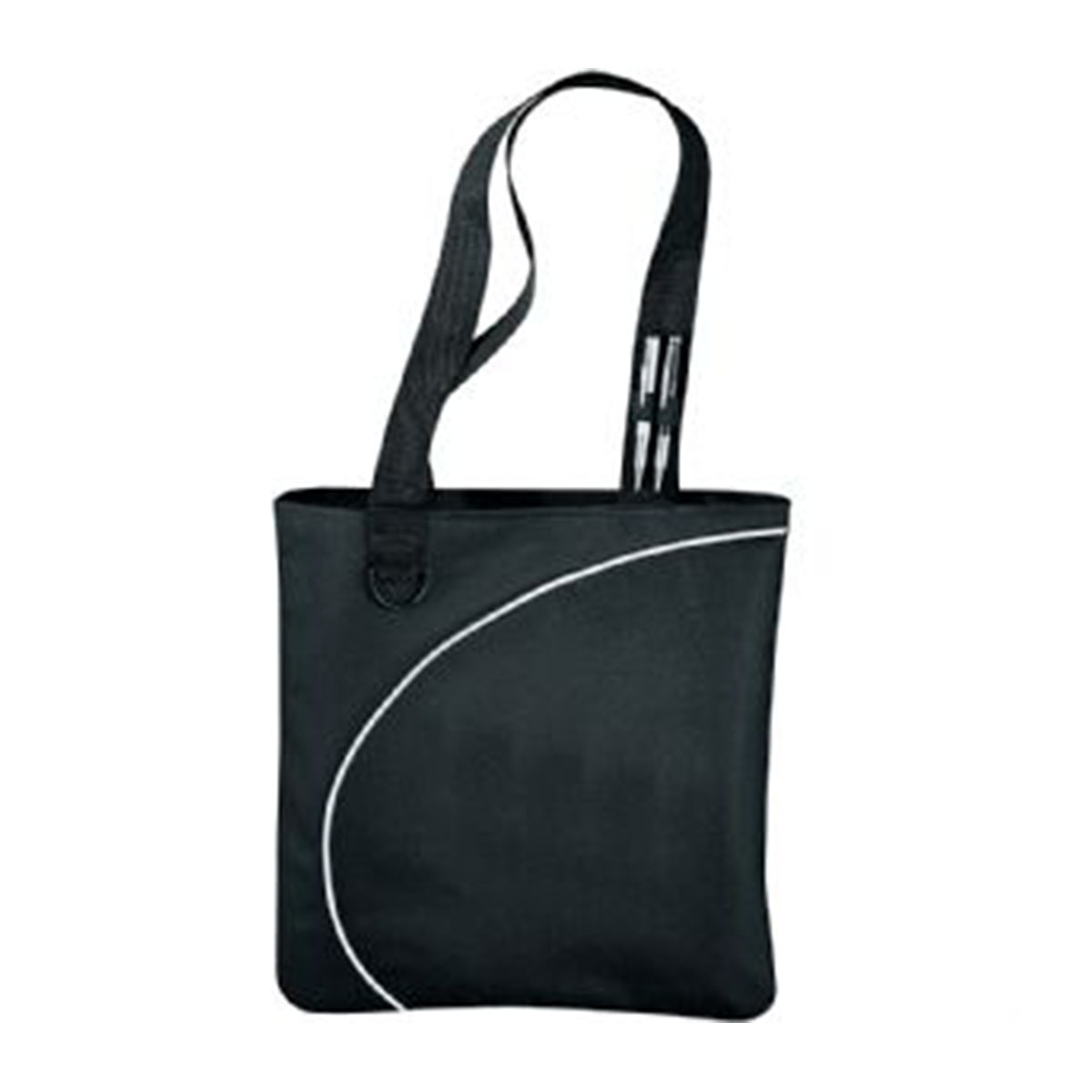 Lunar Convention Tote-Black with White Trim.