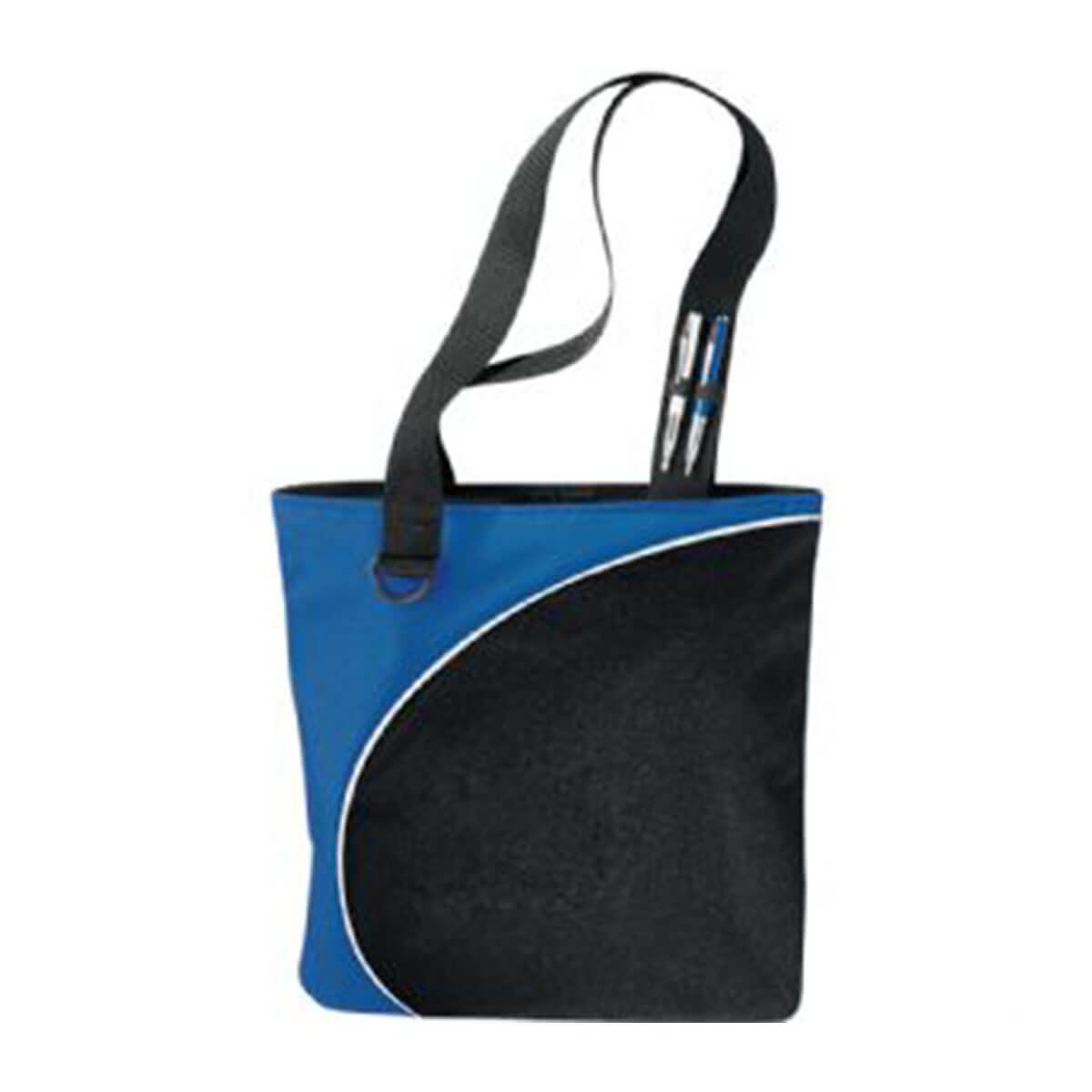 Lunar Convention Tote-Black and Blue with White Trim.