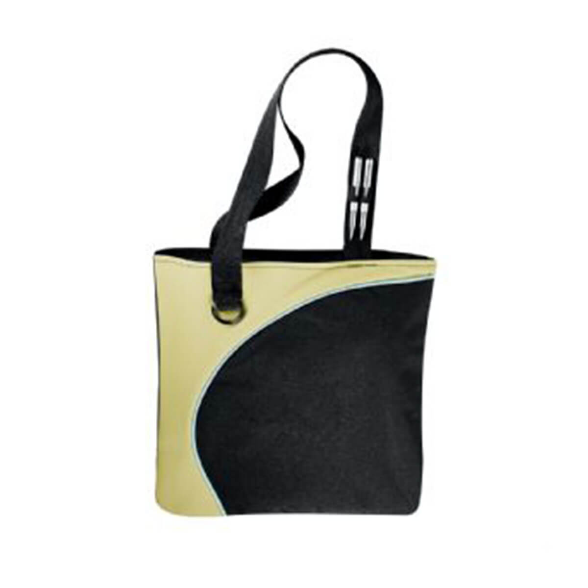 Lunar Convention Tote-Black and Green with White Trim.