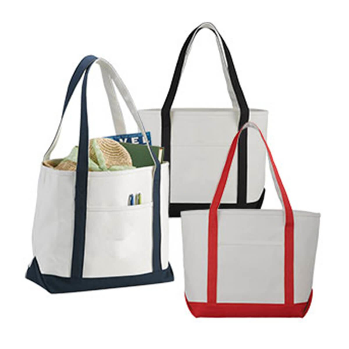 Premium Heavy Weight Cotton Boat Tote-Blue