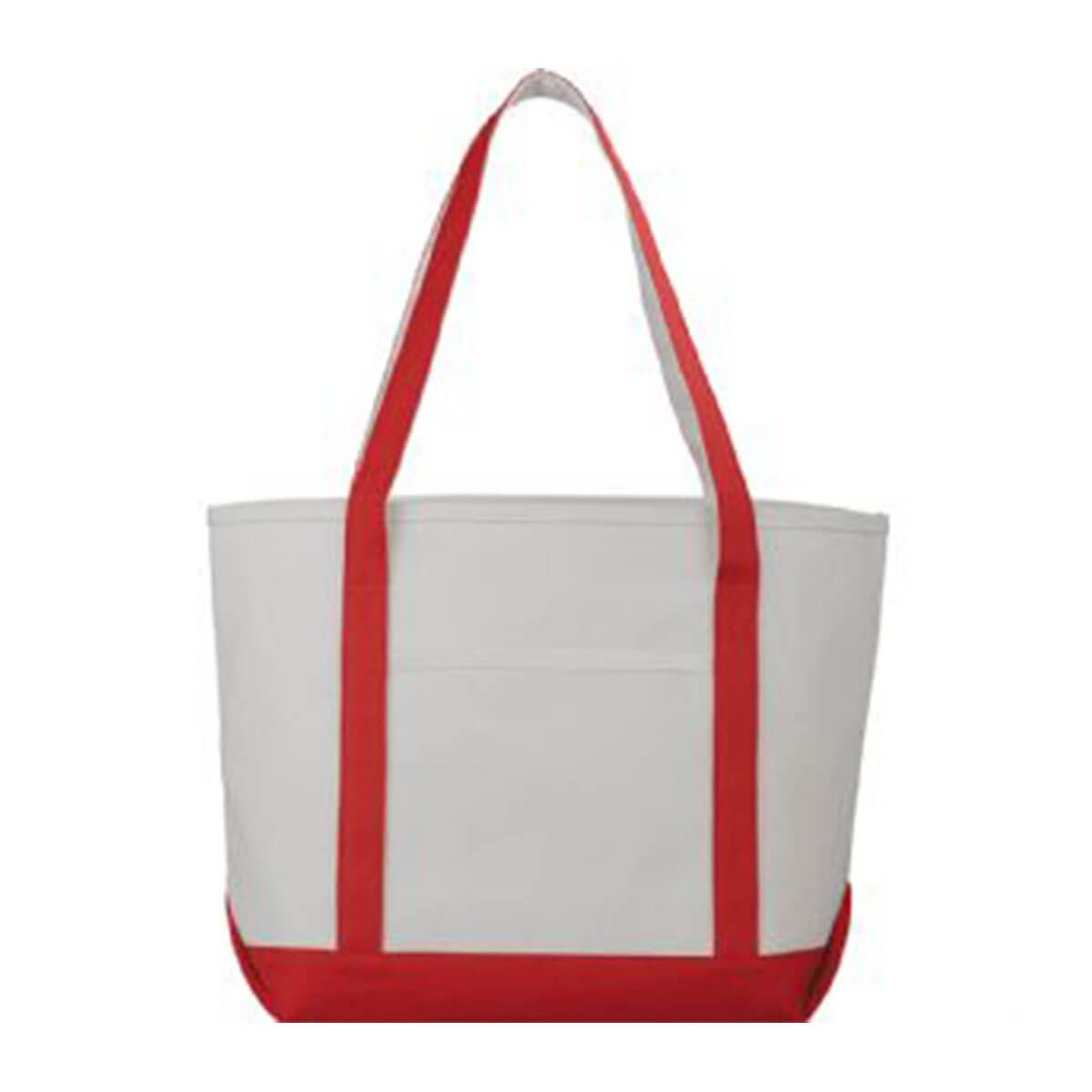 Premium Heavy Weight Cotton Boat Tote-Red