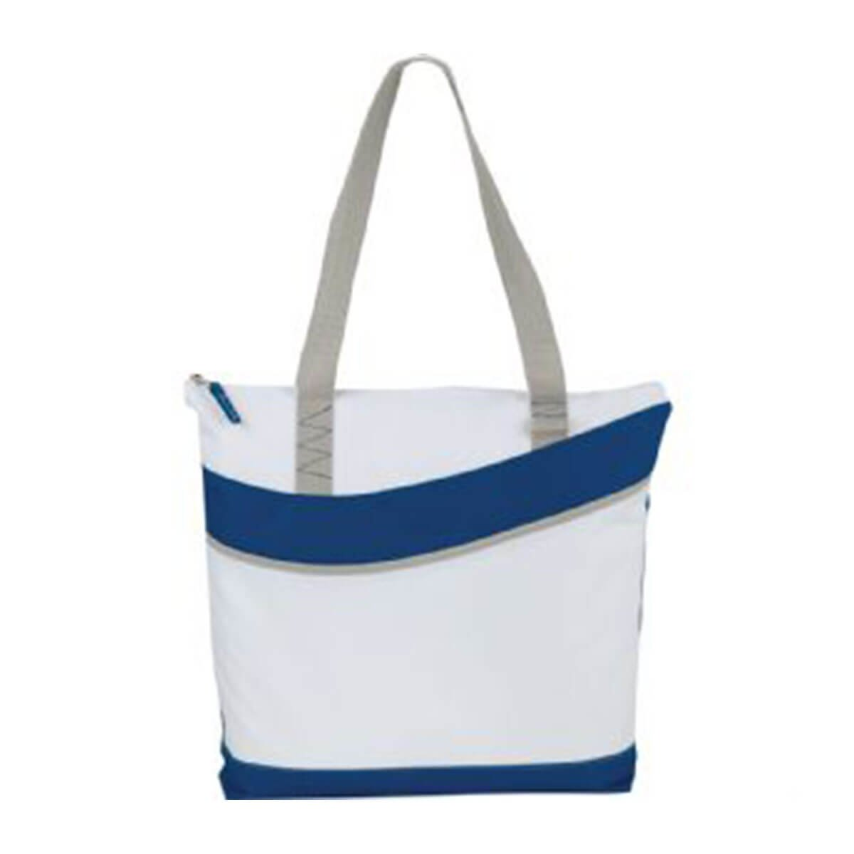 Upswing Zippered Convention Tote-Blue