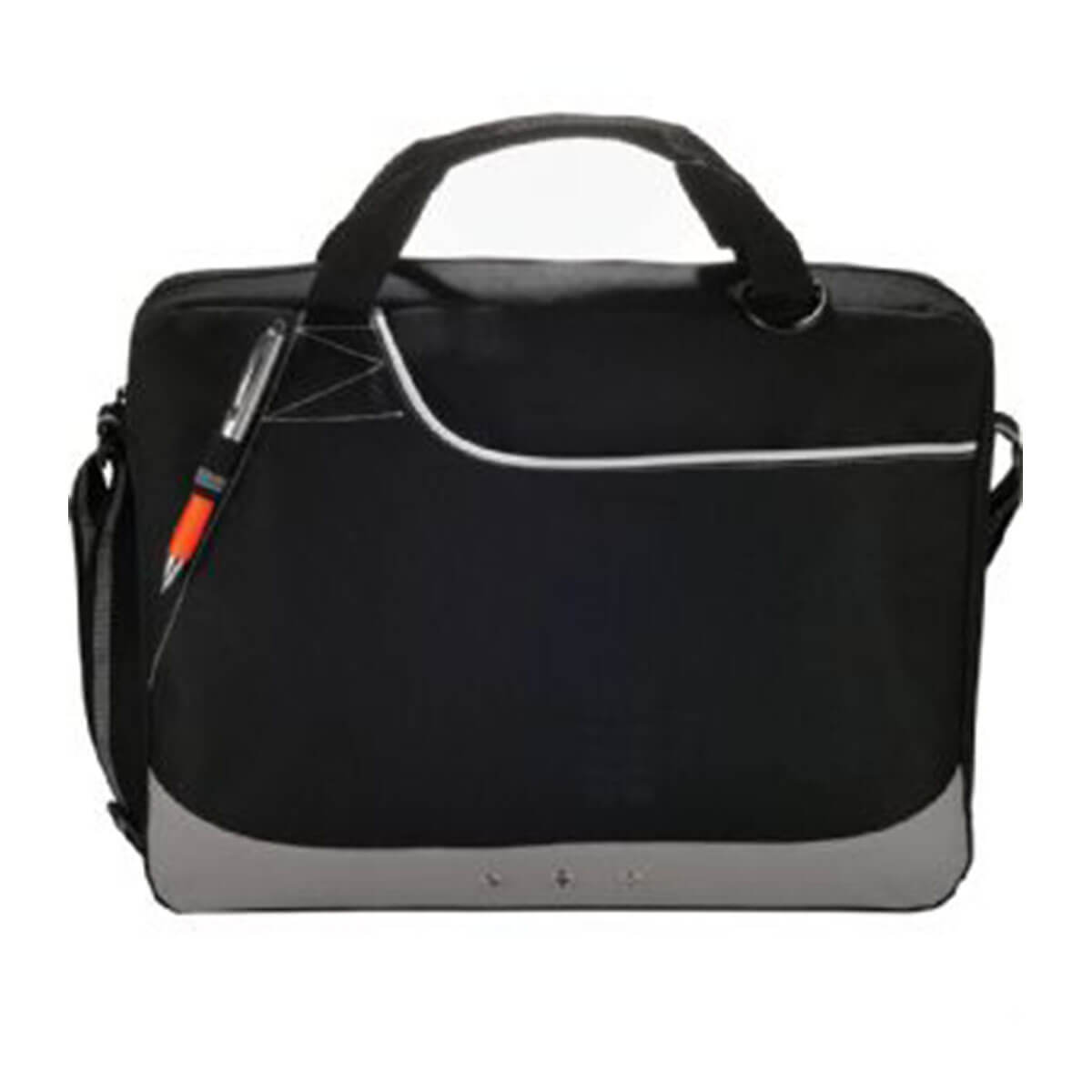 Rubble Brief Bag-Black with White Trim.