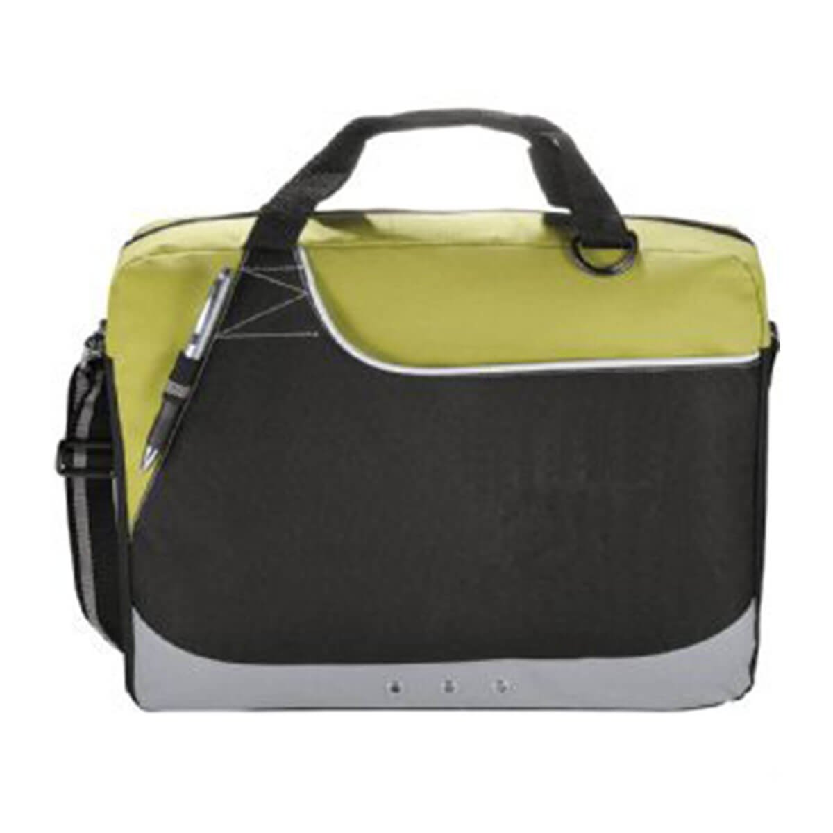 Rubble Brief Bag-Green and Black with White Trim.