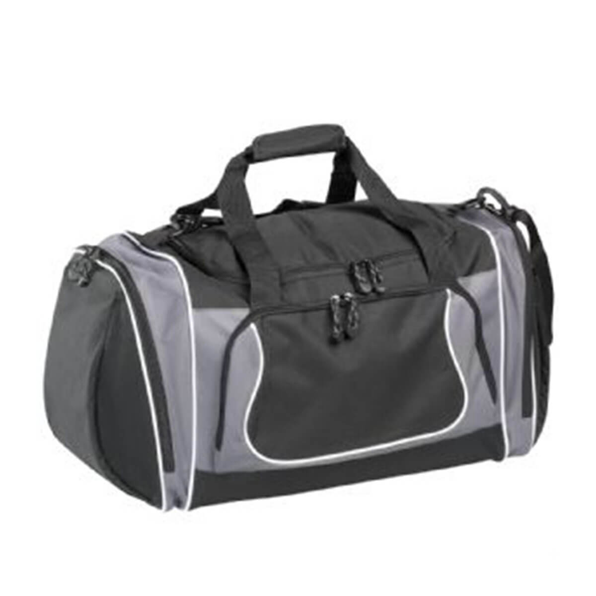 Coil Sports Duffel-Black and Grey with White Trim.