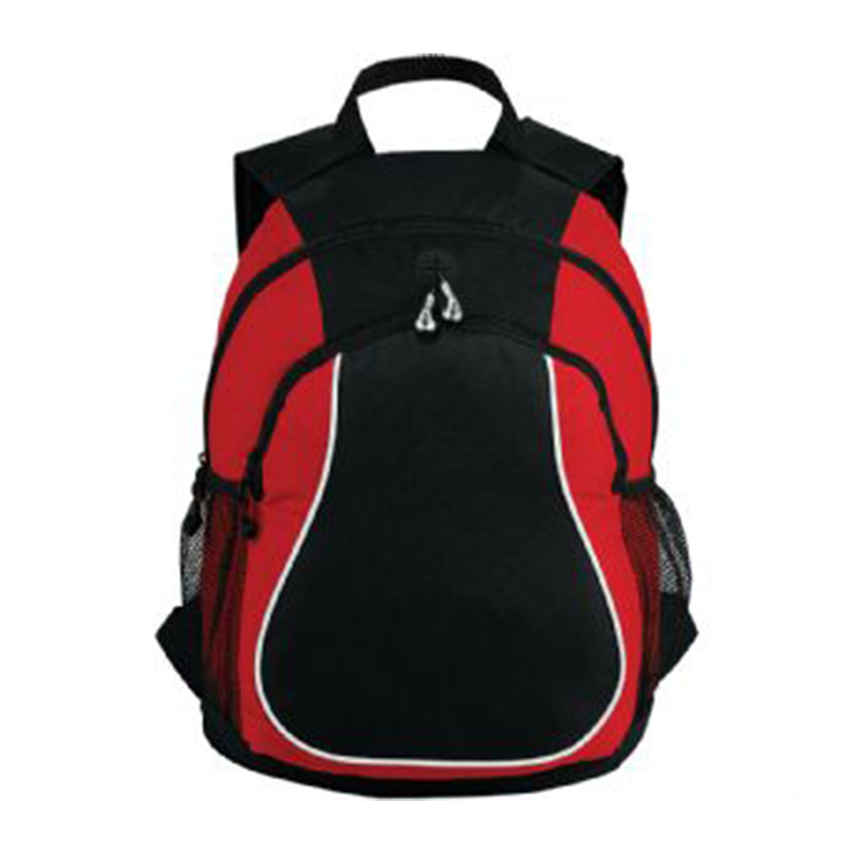 Coil Backpack-Red and Black with White Trim.