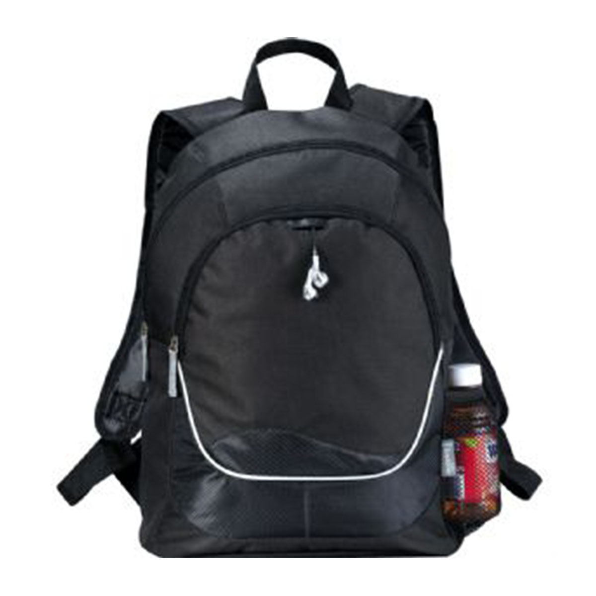Explorer Backpack-Black with white trim.