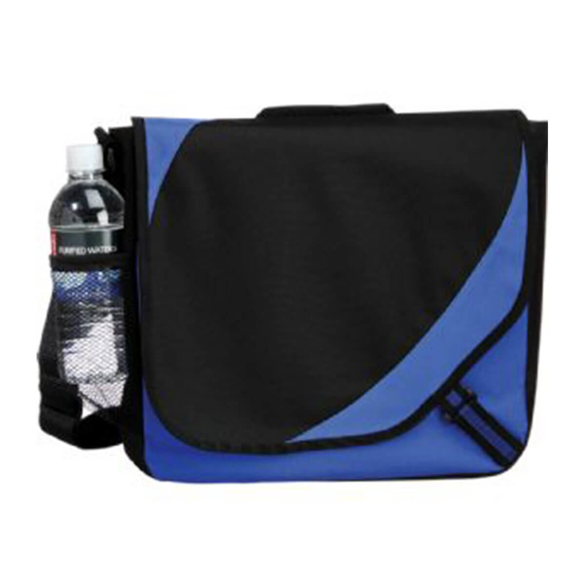 Storm Messenger Bag-Black/Blue