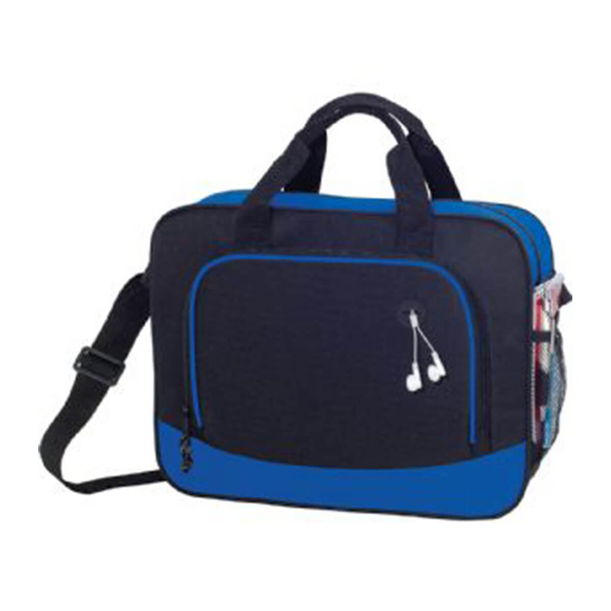 Barracuda Business Briefcase-Black/Blue