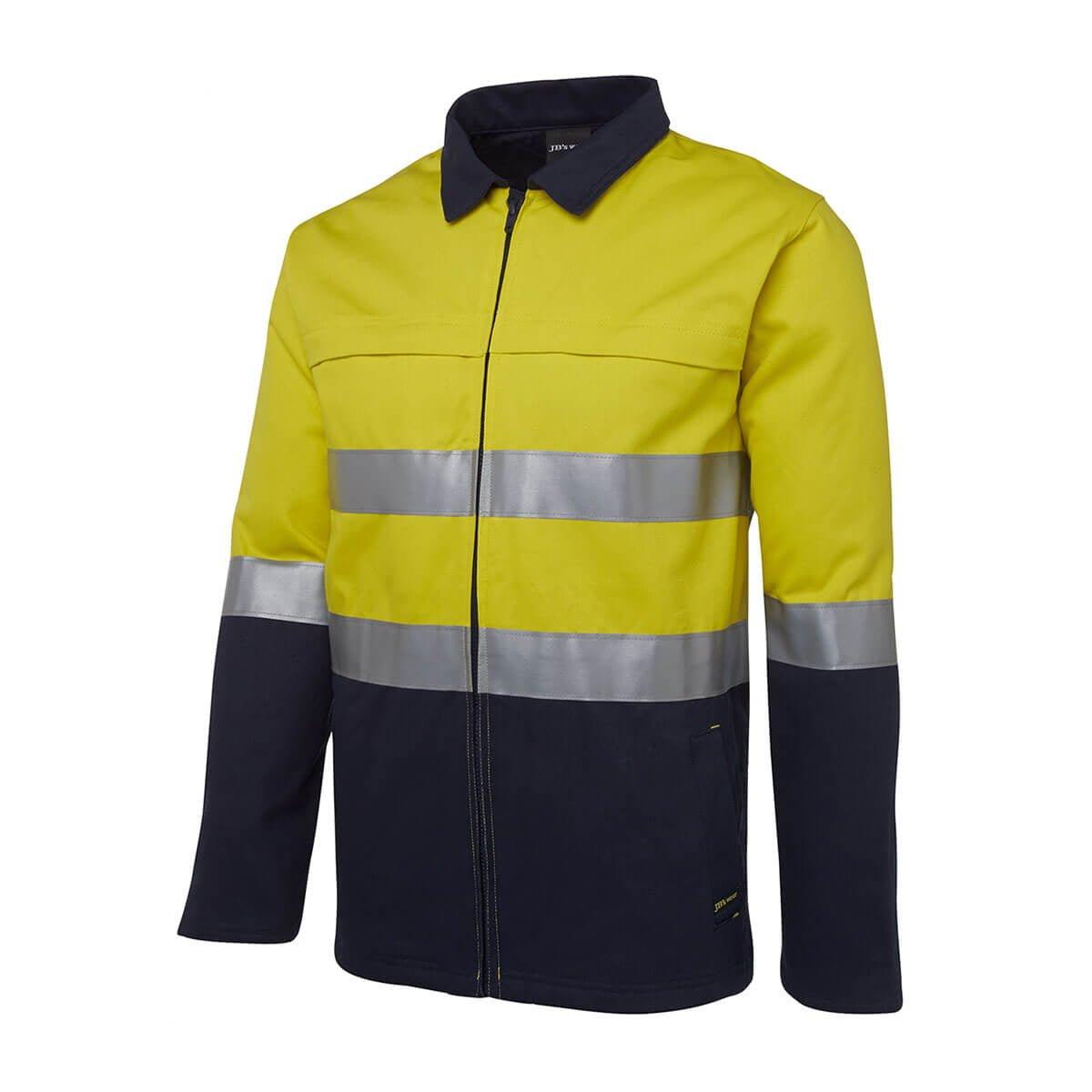 HV (D+N) Cotton Jacket-Yellow  /  Navy