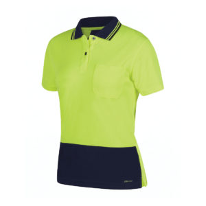 Ladies Hi Vis S/S Jacquard Polo