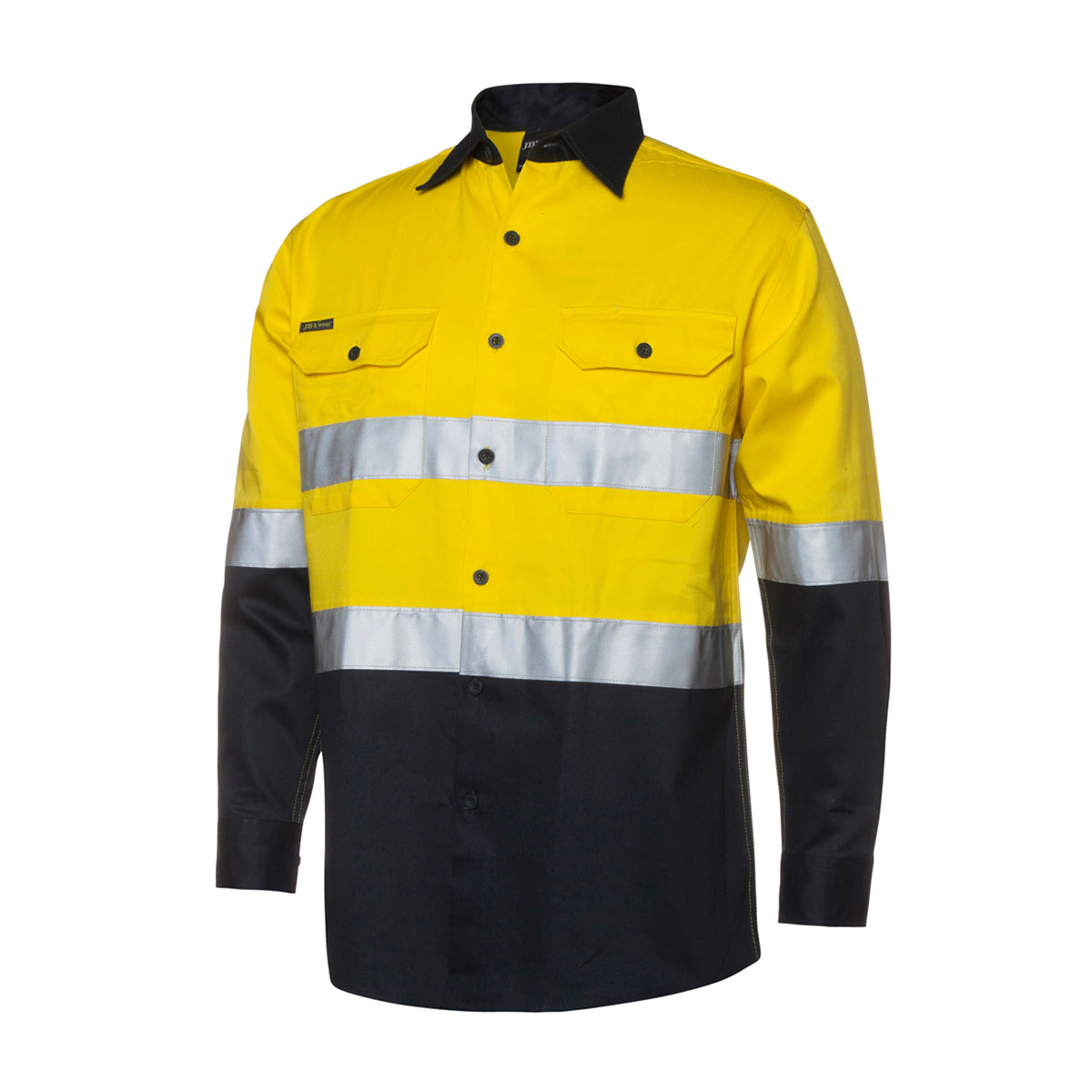 Hi Vis (D+N) L/S 190G Shirt-Yellow  /  Green