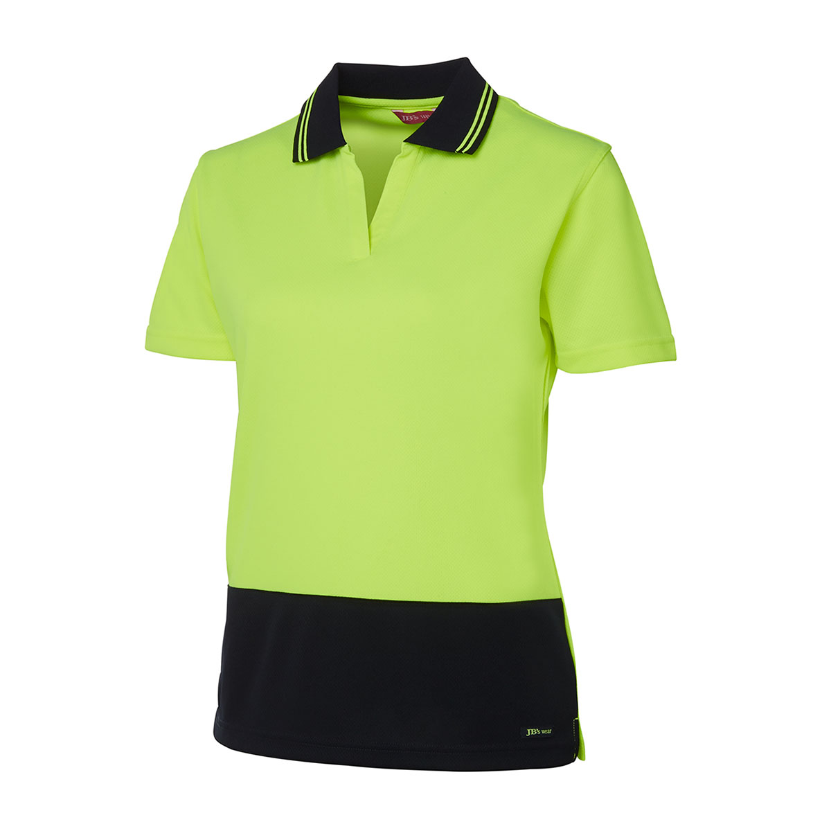 HV Ladies S/S Non Button-Lime  /  Navy
