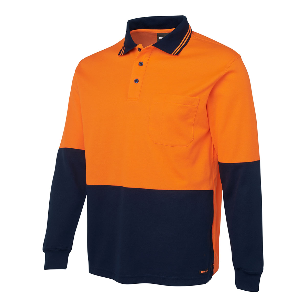 Hi Vis L/S Cotton Back Polo