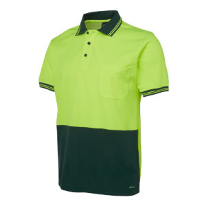 Hi Vis S/S Cotton Back Polo