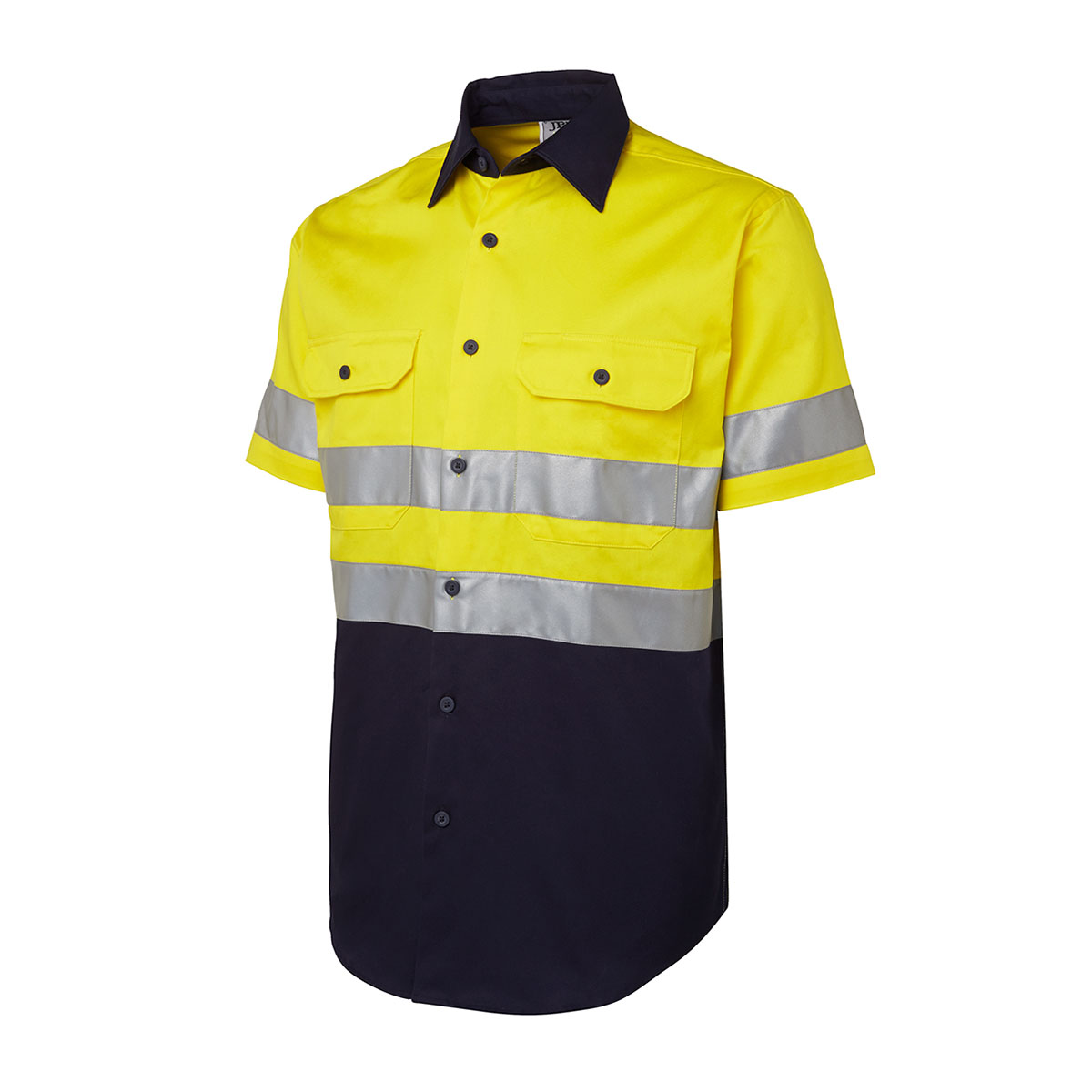 Hi Vis (D+N) S/S 190G Shirt-Yellow  /  Navy