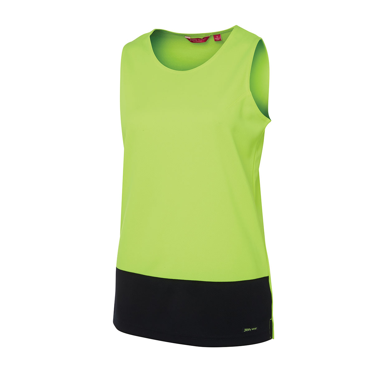 HV Ladies Trad Singlet-Lime  /  Navy