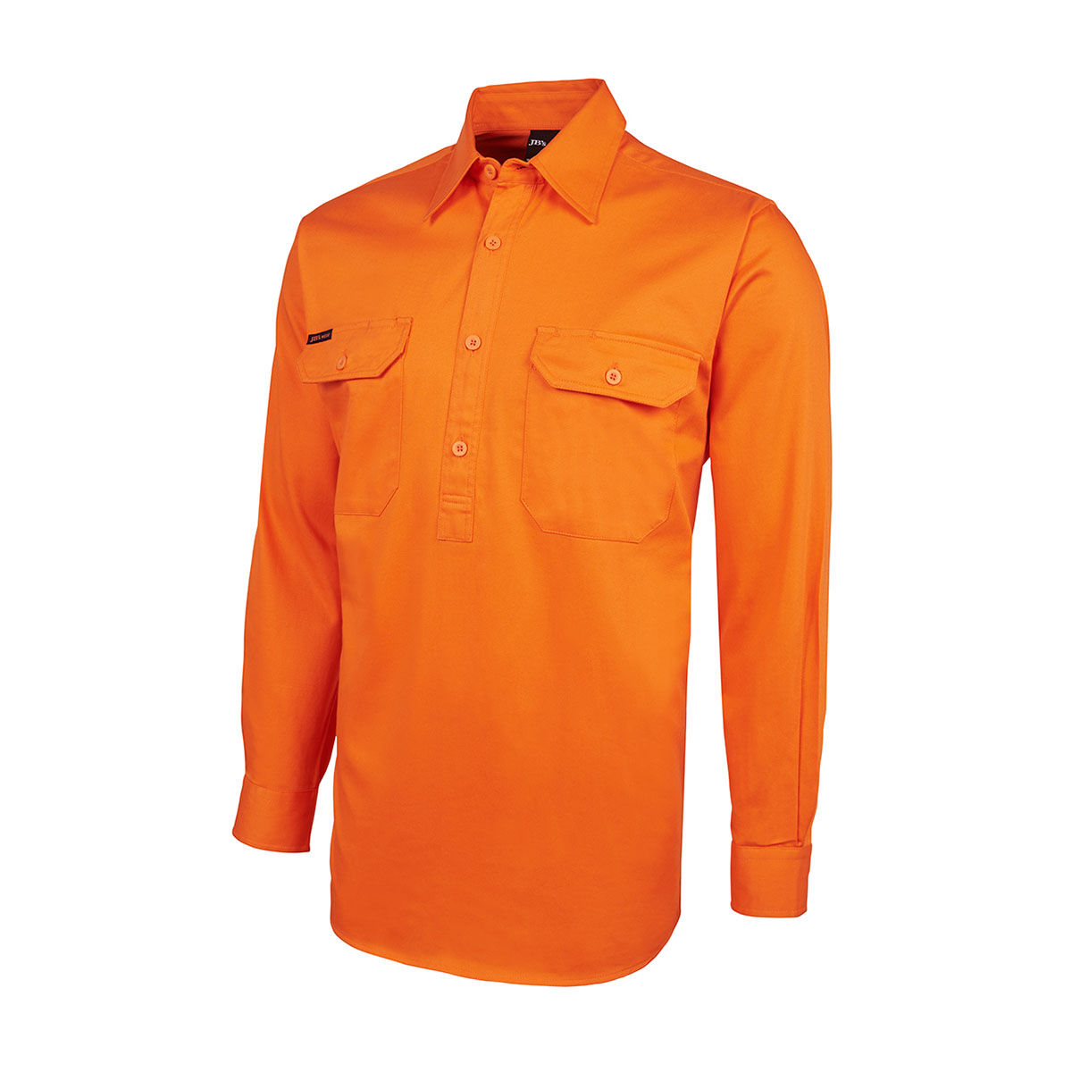 HV Close Front L/S 190G Shirt-Orange