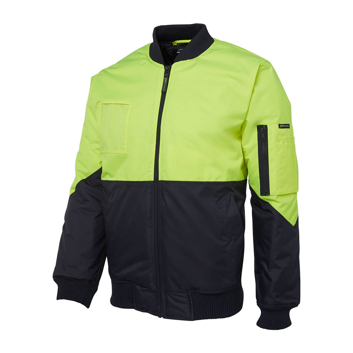 Hi Vis Flying Jacket (Day Only)-Lime  /  Navy
