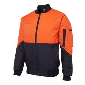 Hi Vis Flying Jacket (Day Only) - Orange_Navy