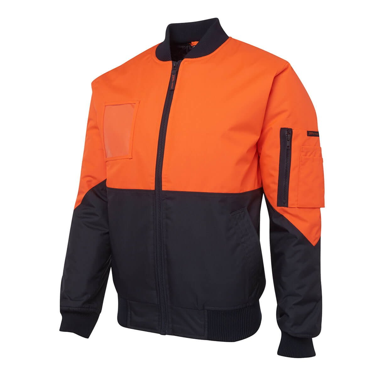 Hi Vis Flying Jacket (Day Only)-Orange  /  Navy