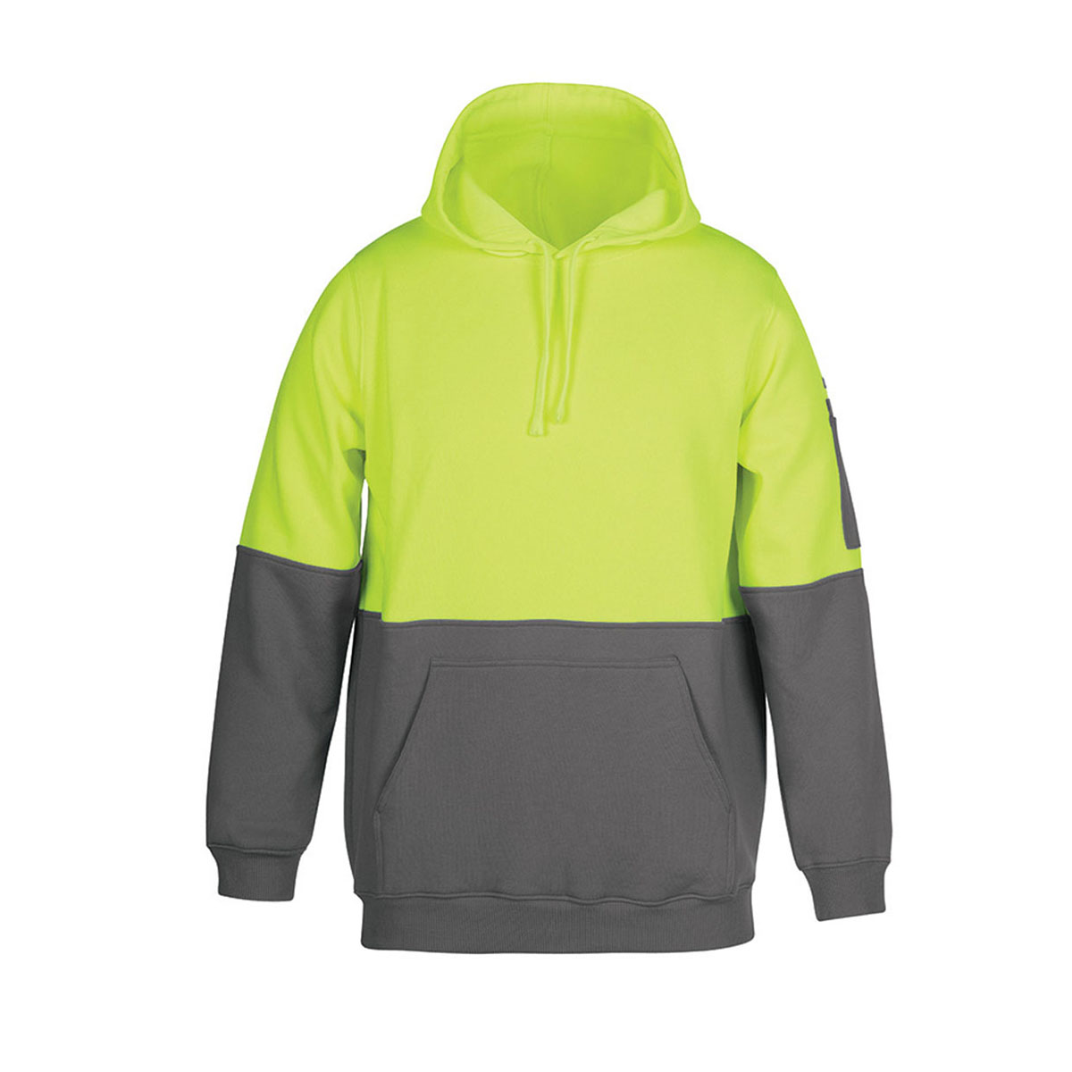 HV Pull Over Hoodie-Lime  /  Charcoal